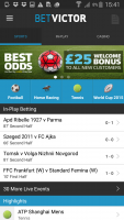 Betvictor app home page