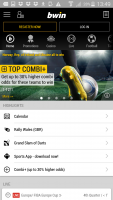 bwin on android- home screen