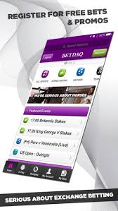 Betdaq iphone app home