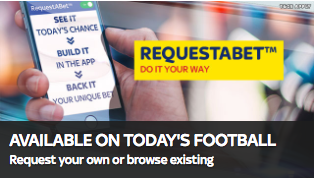 Sky bet app request a bet options