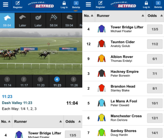 Betfred virtual world app images