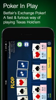 Poker in play on the app