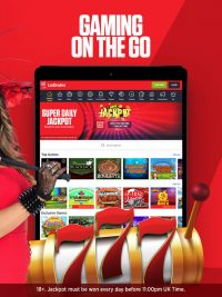 Games on the go with the Ladbrokes casino app - free to download on Android