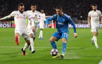 Ronaldo in action against Lyon