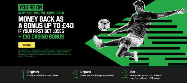 Unibet app new customer offer