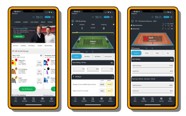 BetVictor app images rated one of the best betting apps
