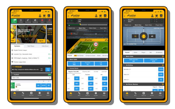 Top rated betting apps - Betfair app